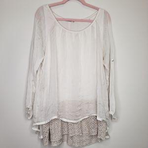 Marina Gigli silk layered blouse l